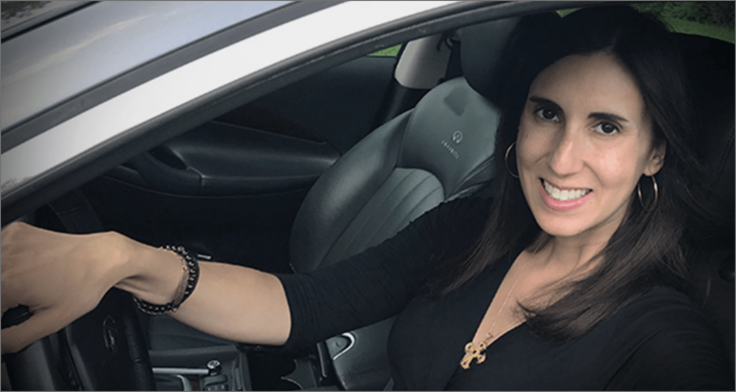 LEMTRADA patient, Katy, in the driver's seat and owning her relapsing multiple sclerosis